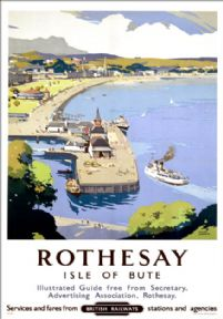 Rothesay, Isle of Bute. Vintage BR Travel Poster by Frank Sherwin